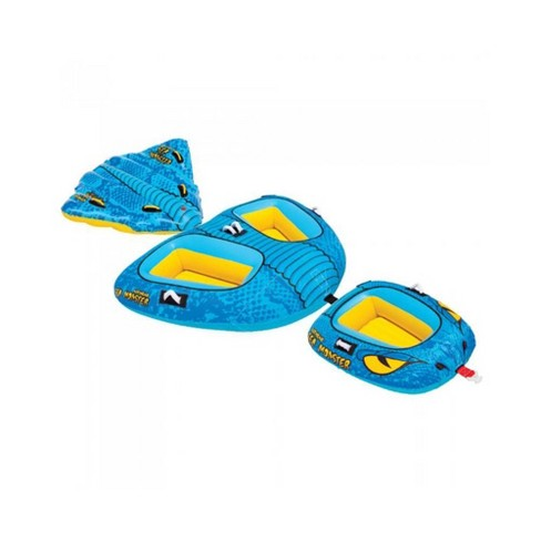 Airhead 4-Person Sea Monster Towable Water Tube with Kwik Connect Tow System - image 1 of 4