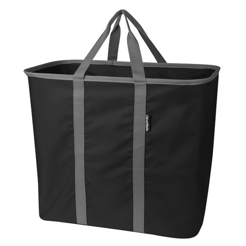 CleverMade SnapBasket CarryAll XL 64L Collapsible Laundry Basket/Tote - Black/Charcoal - image 1 of 6