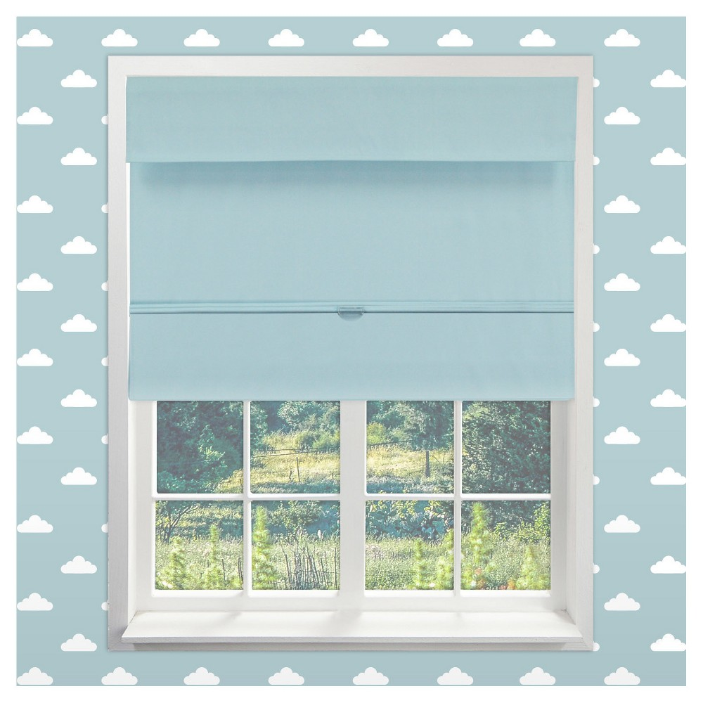 Image of Curtain Panels Chicology Light Blue Solid