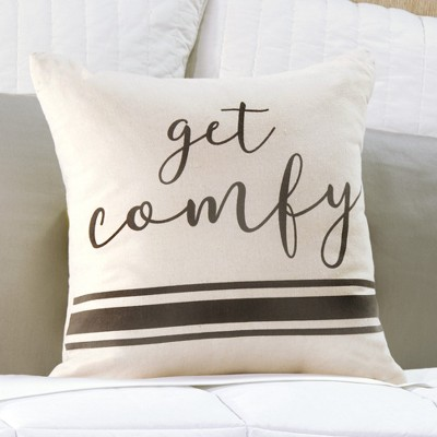 Lakeside Get Comfy Accent Pillow for Furniture and Bedding - Room Throw Cushion