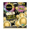 15ct Gold LED Light Up Balloons - illooms - image 3 of 4
