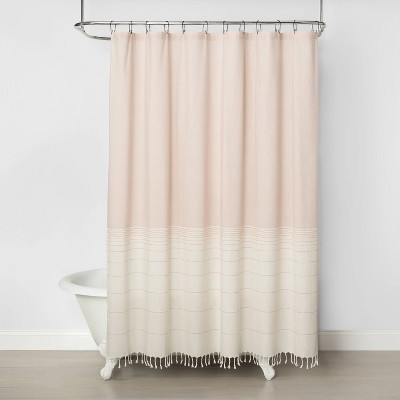 Wide Band Ombre Shower Curtain Copper - Hearth & Hand™ with Magnolia