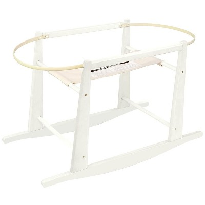 Jolly Jumper Rocking Wooden Moses Basket Stand, Fits Most Moses Baskets and Cots, Antique White
