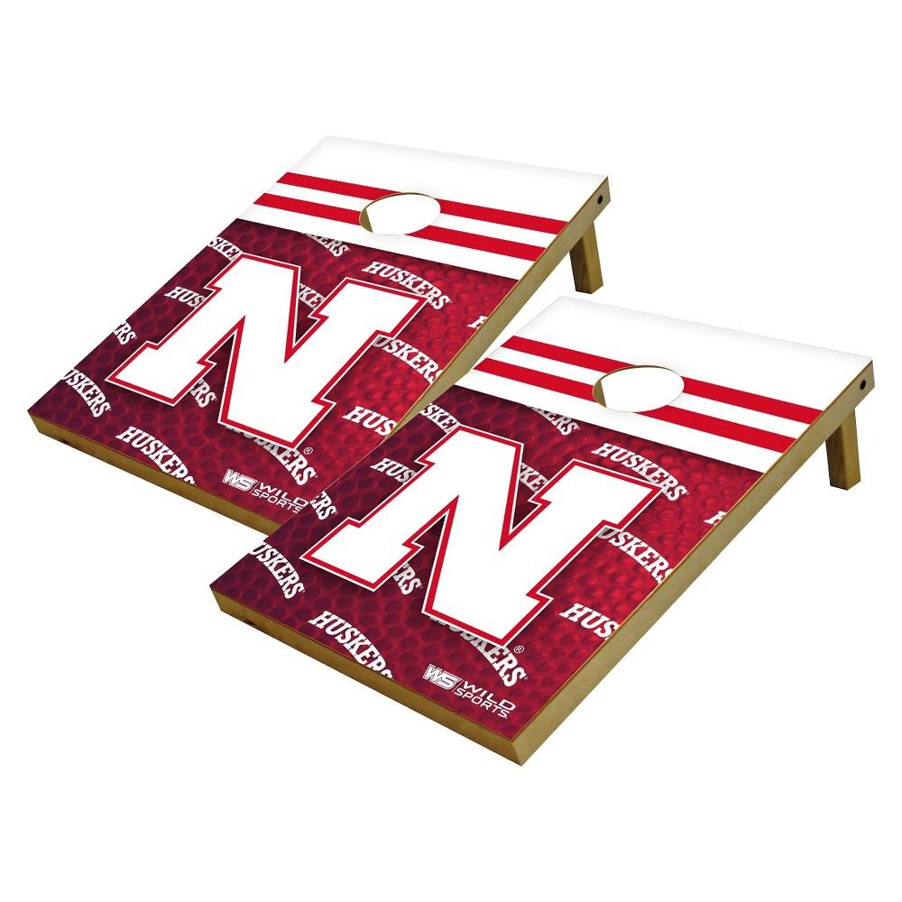 NCAA Nebraska Cornhuskers Wild Sports Platinum Shield Cornhole Bag Toss Set - 2'X3'