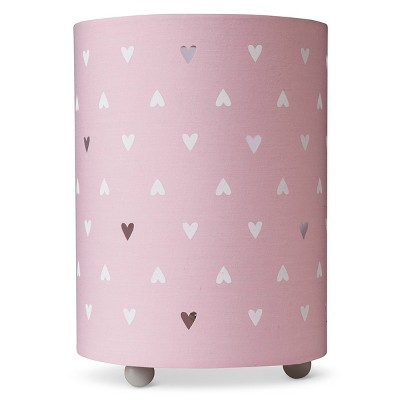 Uplight Table Lamp Hearts (Includes 5W Type C Bulb)- Cloud Island™ - Pink