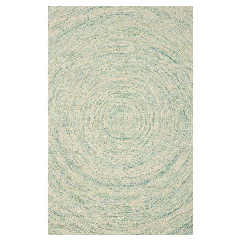 Ivory Blue Abstract Tufted Area Rug 4 39 X6 39 Safavieh
