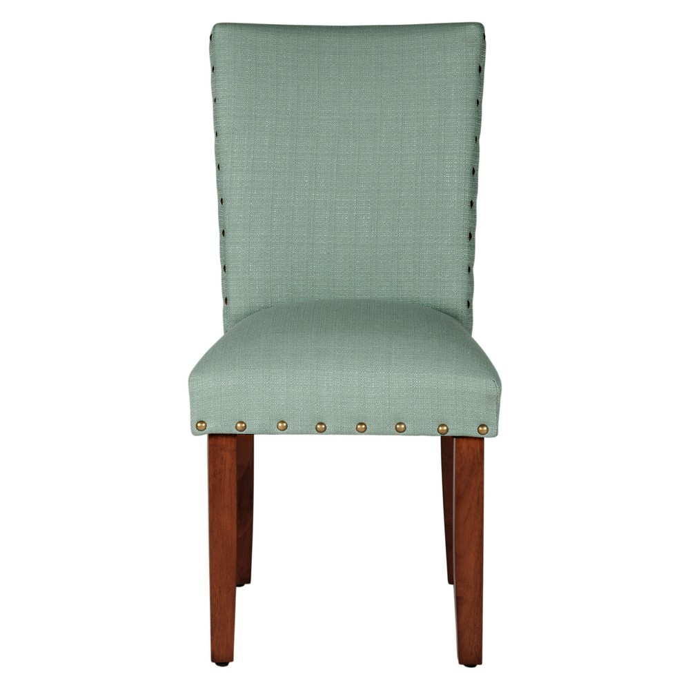 Parsons Dining Chair with Nailheads (Set of 2) - Sea Foam - HomePop, Seafoam