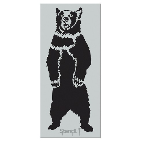 """Stencil1® Grizzly Bear - Wall Stencil 24"""" x 84"""" - image 1 of 2"""