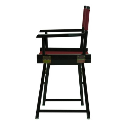 Director's Chair - Black Frame, Beige Canvas, Red