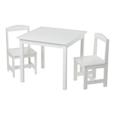Madeline Kids Table and Chairs Set - Set of 3 - Antique White - TMS