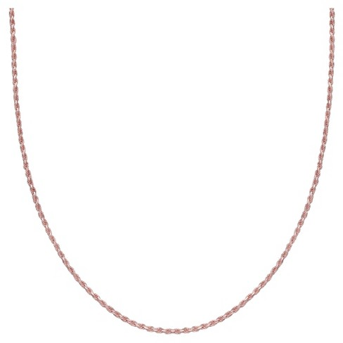 "Women's Rope Chain Necklace in Rose Gold over Sterling Silver - Rose (20"") - image 1 of 1"