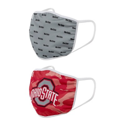 NCAA Ohio State Buckeyes Adult Face Covering 2pk