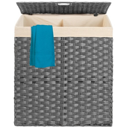 Best Choice Products Wicker Double Laundry Hamper, Divided Storage Basket w/ Linen Liner, Handles - image 1 of 4