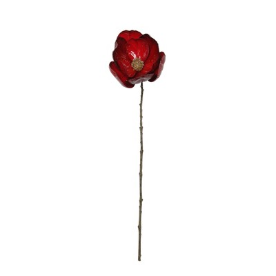 """Northlight 23"""" Red and Brown Magnolia Artificial Christmas Stem"""
