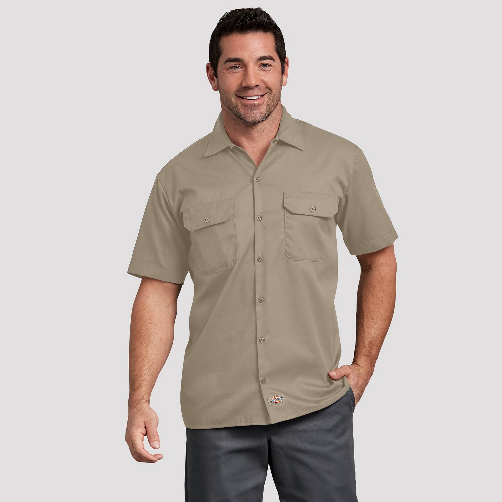 Dickies Men s Relaxed Fit Short Sleeve Button Down Shirt