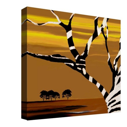 "Zebra Tree Decorative Canvas Wall Art 16""x16"" - PTM Images - image 1 of 1"