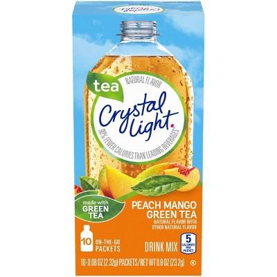 Crystal Light On-The-Go Peach Mango Green Tea - 10pk/0.081oz Pouches