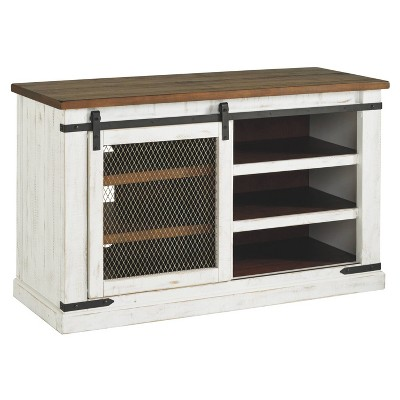 Wystfield TV Stand White/Brown - Signature Design by Ashley