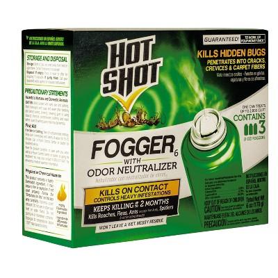 Hot Shot Fogger with Odor Neutralizer - 2oz/3ct