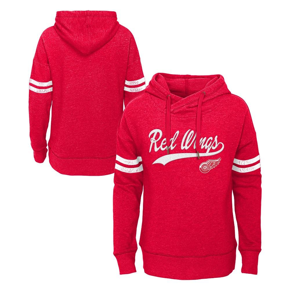 Detroit Red Wings Girls' OT Fleece Hoodie XS, Multicolored