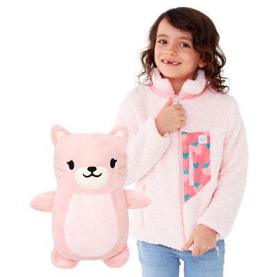 Cubcoats Toddler Kali the Kitty 2-in-1 Stuffed Animal & Sherpa Jacket