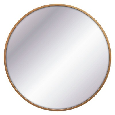 32  Round Decorative Wall Mirror Brass - Project 62™