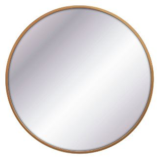 "32"" Round Decorative Wall Mirror Brass - Project 62™"