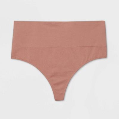 Women's Plus Size High-Rise Seamless Thong - Auden™