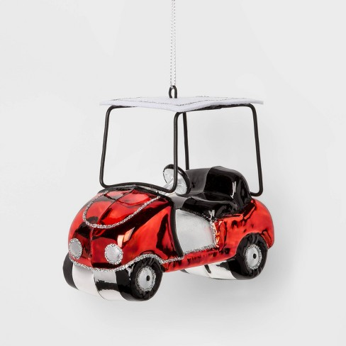 Golf Cart Glass Christmas Ornament - Wondershop™ - image 1 of 2