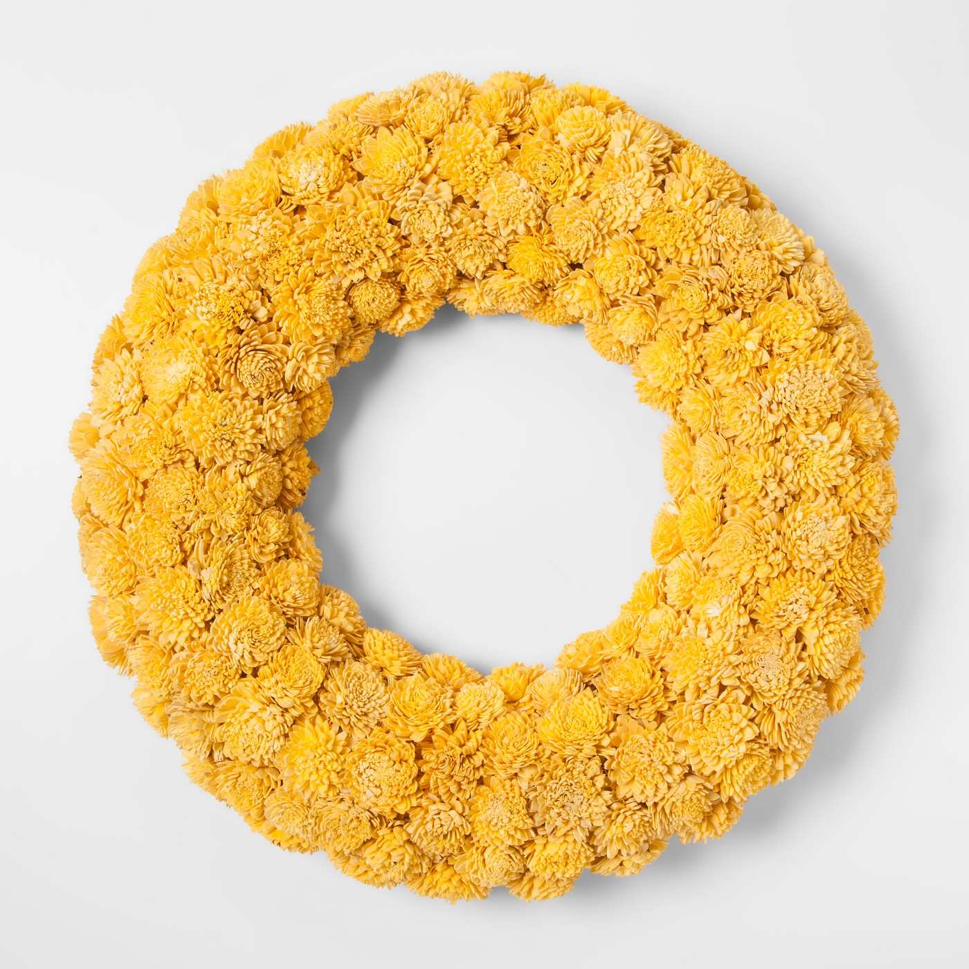 "21.2"" Sola Wood Flower Wreath Yellow - Smith & Hawken™ - image 1 of 1"