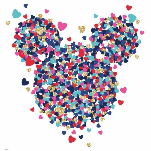 RoomMates Disney Minnie Mouse Heart Confetti Peel and Stick Wall Decals - image 1 of 2