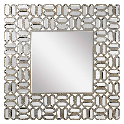 Square Decorative Wall Mirror Gold - Lazy Susan - image 1 of 2