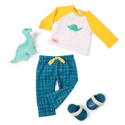 """Our Generation 18"""" Boy Doll Dinosaur Pajama Outfit - Dino-Snores"""