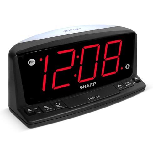 Sharp LED Night Light Alarm Clock