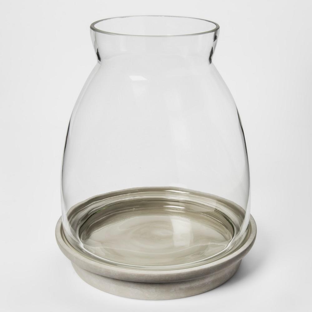 "Image of ""12.2"""" x 10.5"""" Glass Terrarium Planter Gray - Smith & Hawken , Clear Gray"""