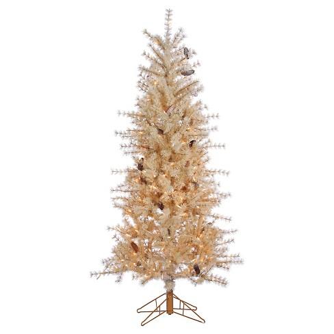 6ft Pre Lit Artificial Christmas Tree Slim Pine