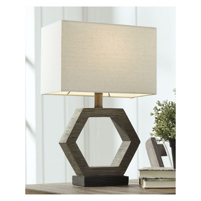 Bon Marilu Poly Table Lamp Muted Clay   Signature Design By Ashley : Target