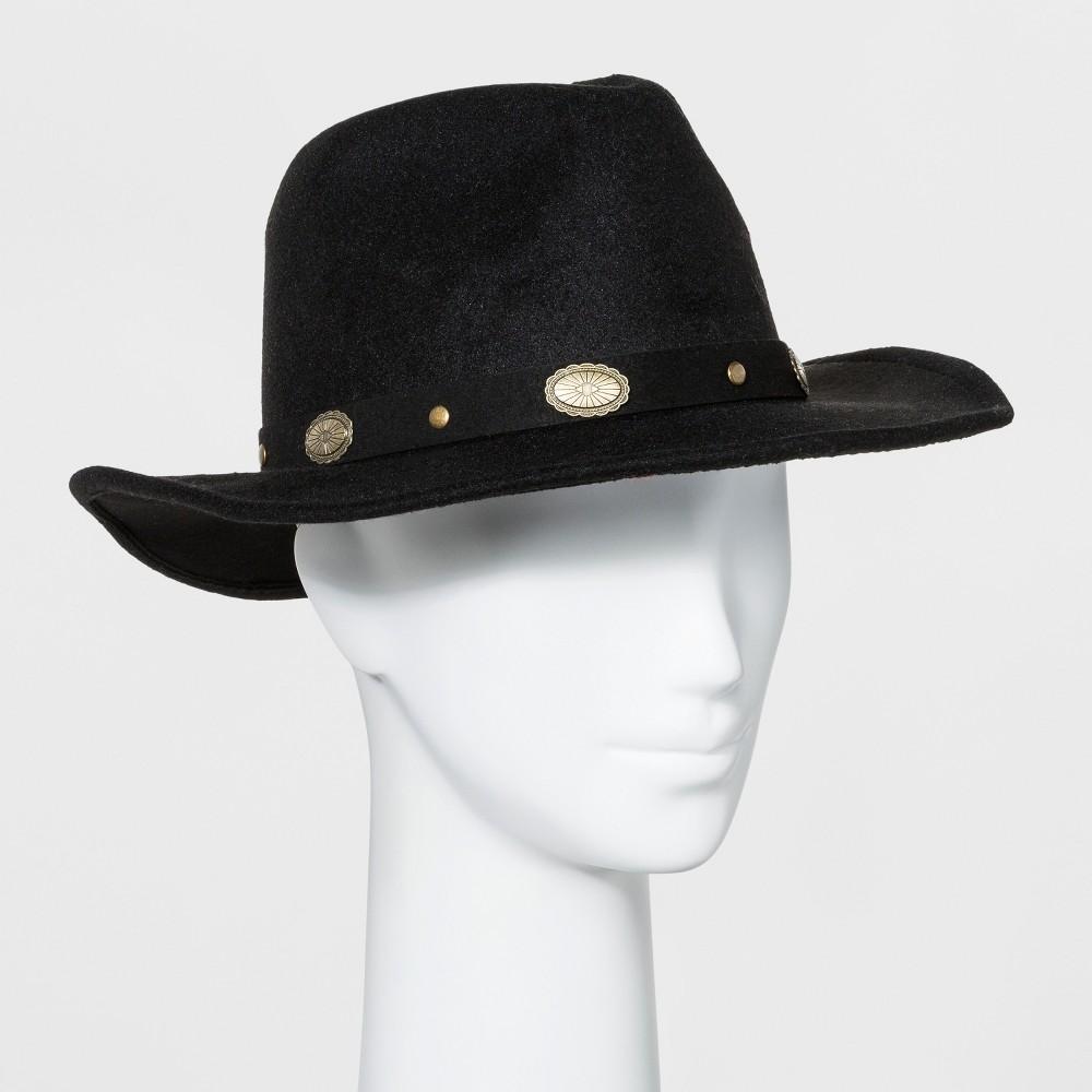 Women's Faux Felt Western Hat - Wild Fable Black