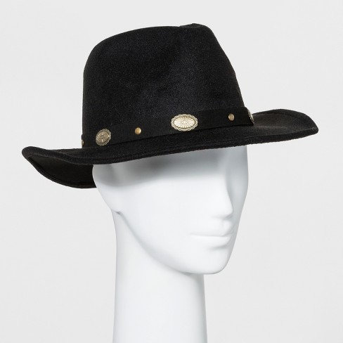Women s Faux Felt Western Hat - Wild Fable™ Black   Target af09ce4babe
