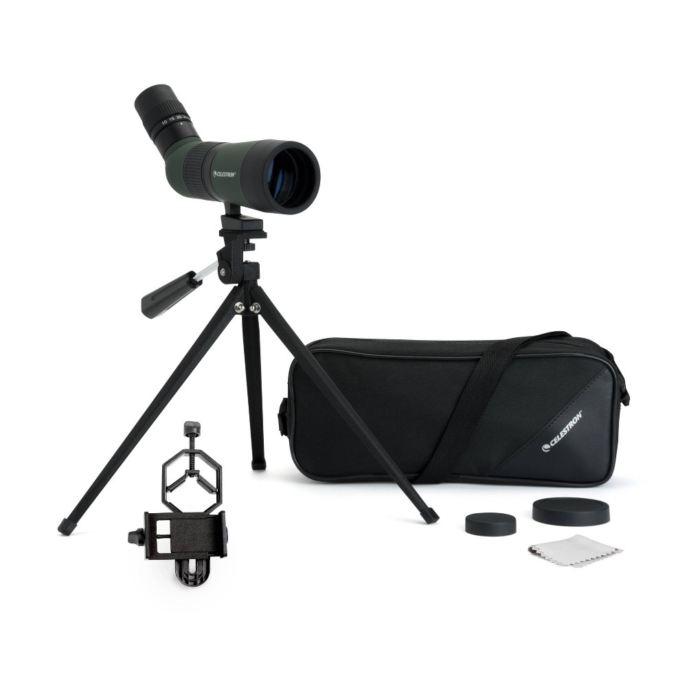 Image of Celestron Landscout 50MM Spotting Scope with Basic Smartphone Adapter - Black