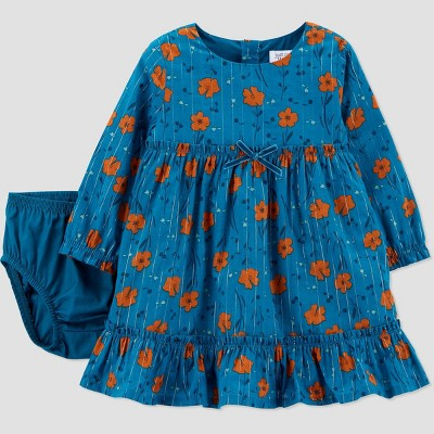 Baby Girls' Floral Dress - Just One You® made by carter's Teal 9M