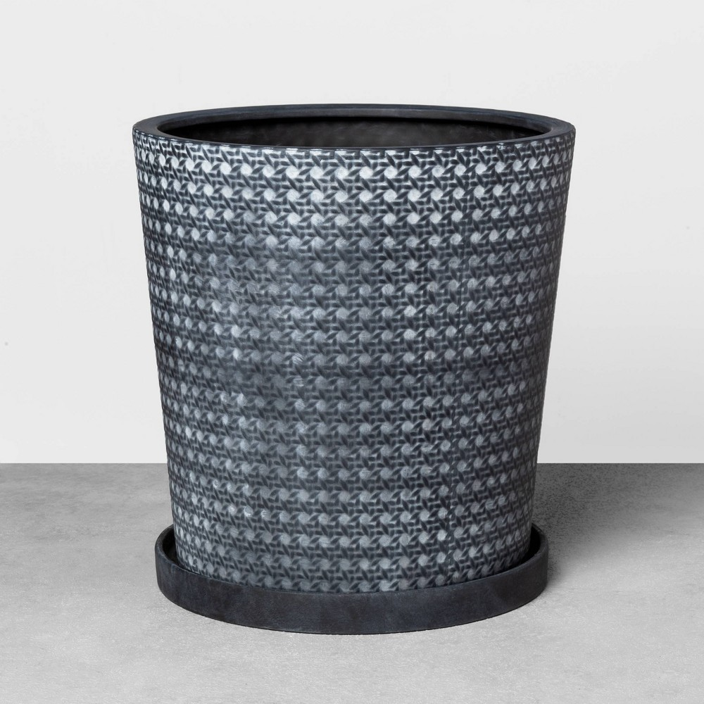 15 Caning Planter Black - Hearth & Hand with Magnolia