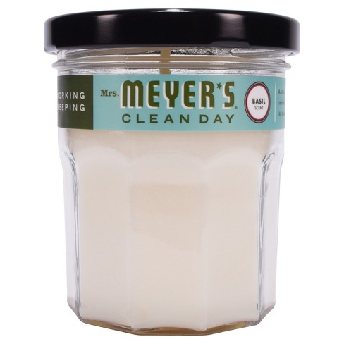 Mrs. Meyer's® Basil Soy Glass Candle - 4.9oz - image 1 of 3