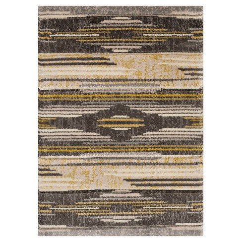 Gray Native Chic Hooked Rug - United Weavers - image 1 of 1