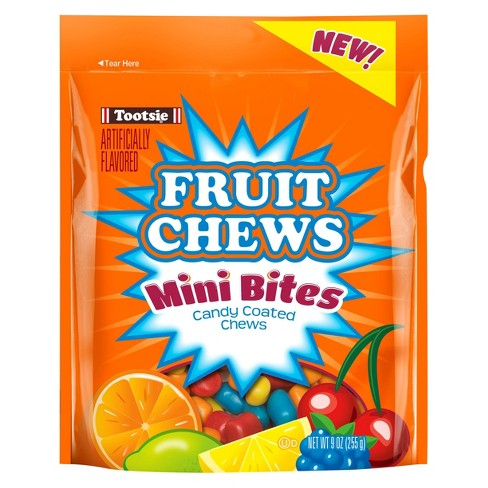 Tootsie Roll Fruit Chews Mini Bites Candy Coated Chews - 9oz - image 1 of 1