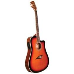 Kona Thin-Body Acoustic/Electric Guitar - K2SB