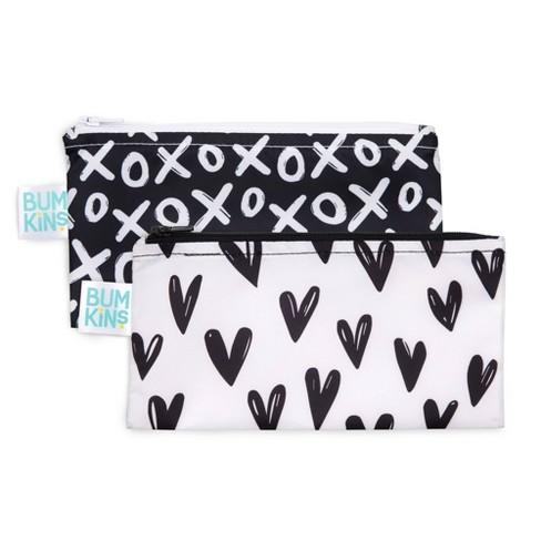 Bumkins Reusable Snack Bag 2-Pack Hearts/XOXO - image 1 of 4