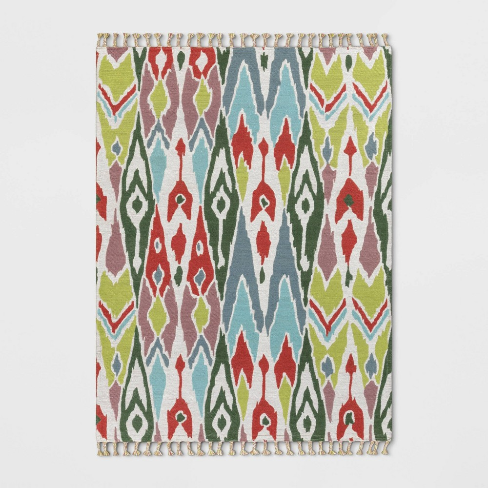 9'X12' Indoor/Outdoor Floral Woven Area Rug - Opalhouse, Multicolored