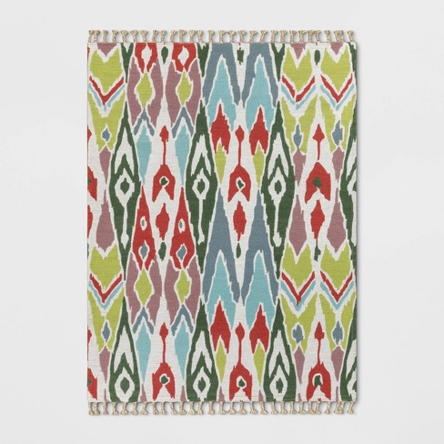 Indoor/Outdoor Floral Woven Area Rug - Opalhouse™ - image 1 of 3