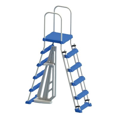 Swimline 87950 Above Ground Pool A Frame Ladder with Barrier for 48 Inch Pools